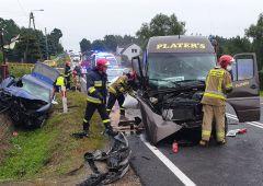 Wypadek drogowy w Bliżynie - 6 osób poszkodowanych
