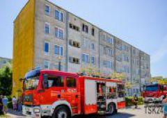 Pożar mieszkania przy ulicy Sokola 24