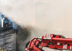 Spłonął opuszczony budynek mieszkalny przy ulicy Spółdzielczej