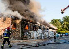 Pożar magazynu przy ulicy Mościckiego