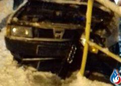 Płaczków-Górki - Audi 80 uderzyło w barierę