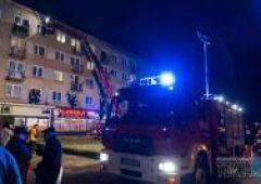 Dwie interwencje Straży Pożarnej w jednym bloku przy ulicy Sokolej