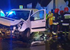 Wypadek trzech samochodów osobowych w Suchedniowie