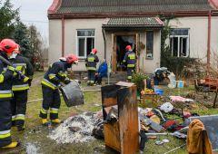 Pożar domu jednorodzinnego przy ulicy Racławickiej