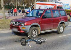 Rowerzysta potrącony na przejściu dla pieszych - wymusił pierwszeństwo na czerwonym świetle