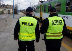 """Akcja """"24 – Blue RAD"""" – policjanci działali wspólnie ze strażnikami ochrony kolei"""