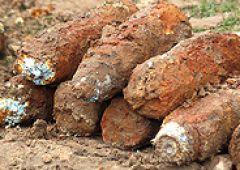 Niewybuchy  znalezione na budowie w Bliżynie
