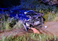 Wypadek dwóch samochodów osobowych na skrzyżowaniu ul. Pięknej z ul. 1-go Maja w Skarżysku-Kamiennej