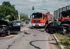 Wypadek drogowy na alei Piłsudskiego