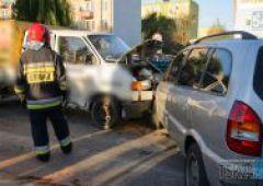 Zderzenie trzech samochodów - skrzyżowanie Zielnej i Rejowskiej