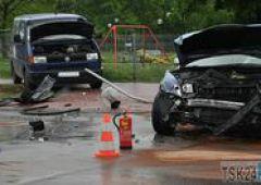 Wypadek na skrzyżowaniu ulic Sienkiewicza i Wyspiańskiego