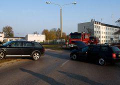 Kolizja z udziałem dwóch Audi