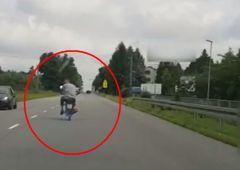 Po pijanemu na motocyklu uciekał przed policjantami