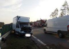 Wypadek na drodze S-7 w Ostojowie
