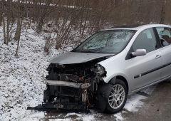 Wypadek trzech samochodów osobowych na ulicy Ekonomii w Skarżysku-Kamiennej