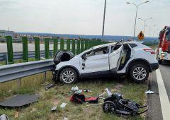 Poważny wypadek na S7