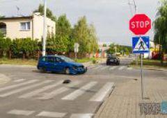 Kolejna kolizja na skrzyżowaniu Zielnej z Rejowską