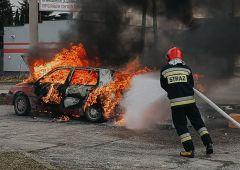 Pożar samochodu osobowego przy ulicy Wspólnej