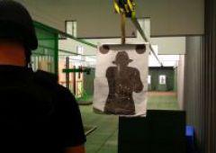 Pierwsze strzelania na nowej strzelnicy