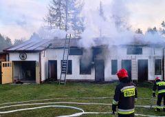 Pożar budynku gospodarczego w Skarżysku-Kamiennej na ul. Słonecznej