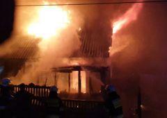 Groźny pożar budynku jednorodzinnego w miejscowości Zalezianka gm. Łączna