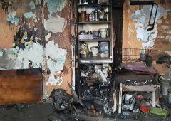 Pożar domu przy ulicy Langiewicza - jedna osoba w szpitalu