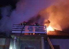 Pożar budynku mieszkalnego w Kamionkach