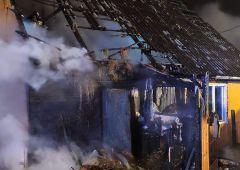 Pożar budynku mieszkalnego przy ul. Grota Roweckiego w Skarżysku-Kamiennej