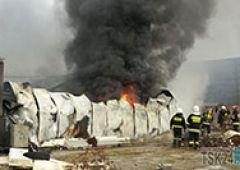 Groźny pożar zakładu Hektor-Sport