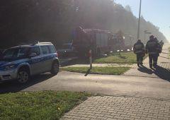 Pożar samochodu Ciężarowego na DK42