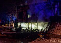 """Restauracja """"Myśliwska"""" podpalona przez dwóch nastolatków...? (uzup. wideo)"""