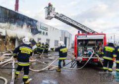Pożar w hucie szkła