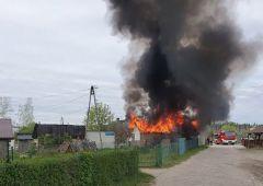 Pożar budynku mieszkalnego w Wojtyniowie (gm. Bliżyn)