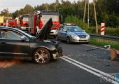 Groźny wypadek samochodowy