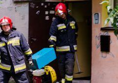 Pożar w bloku przy Oseta Wasilewskiego 12