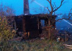 Pożar budynku mieszkalnego w miejscowości Podłozie w gm. Łączna